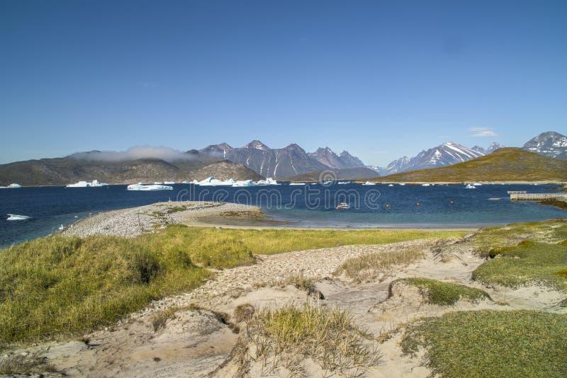 Grönland - landskap arkivfoton