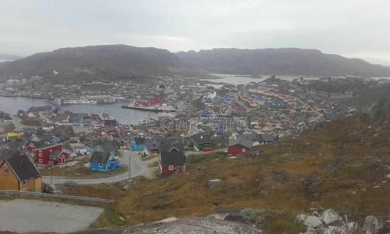 Grönland-qaqortoq Süd-Grönland nave stadt stockfoto