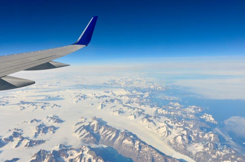 Grönlands Ostküste von den flachen 6 lizenzfreies stockfoto