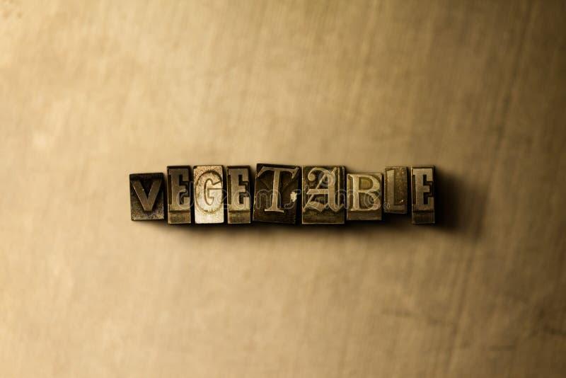 GRÖNSAK - närbild av det typsatta ordet för grungy tappning på metallbakgrunden royaltyfri illustrationer