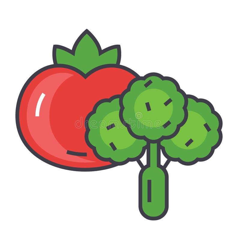 Grönsakbegrepp royaltyfri illustrationer
