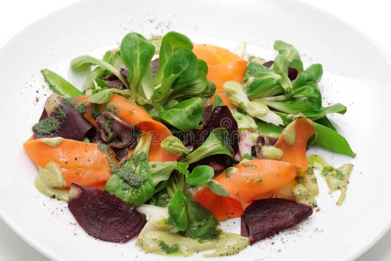 grönsaker för målfiskromsallad royaltyfria bilder