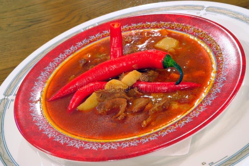 grönsaker för veal för goulashsoup royaltyfria bilder