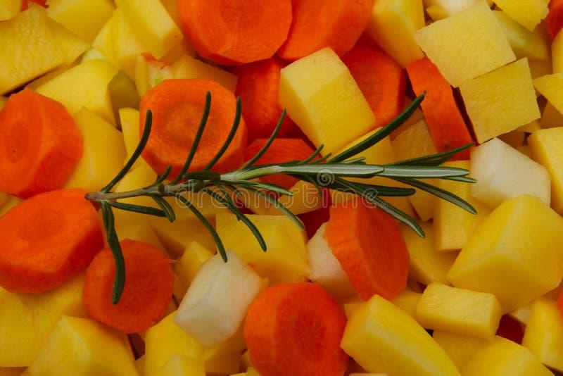 Grönsaker med örter royaltyfria bilder