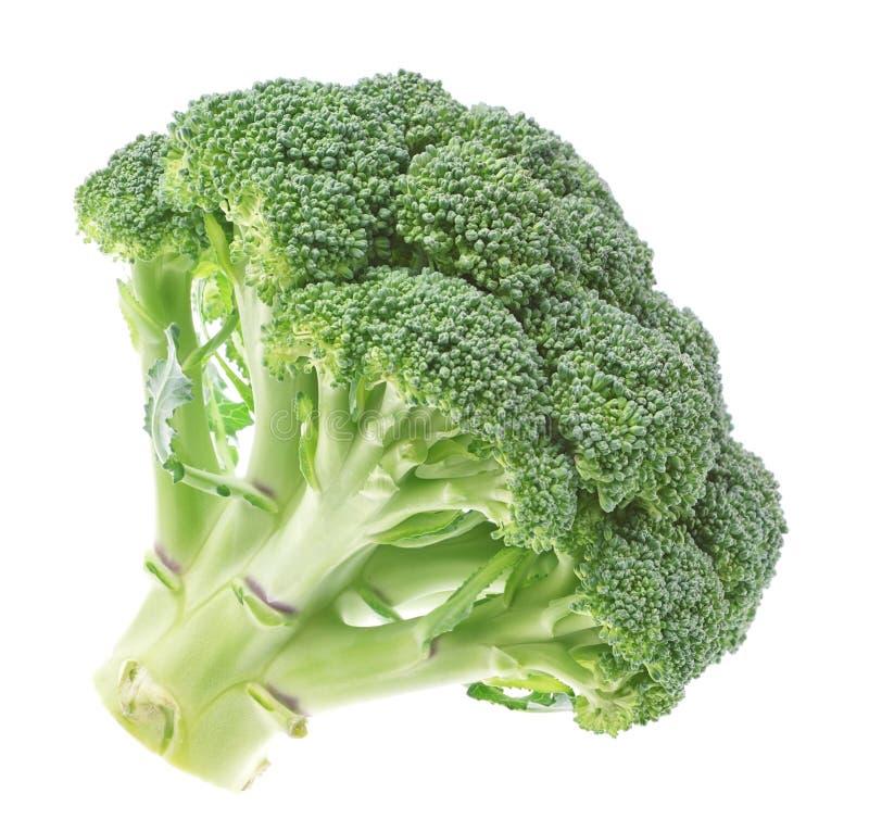 Grönsaker ny broccoli på en vitbakgrund. arkivfoton
