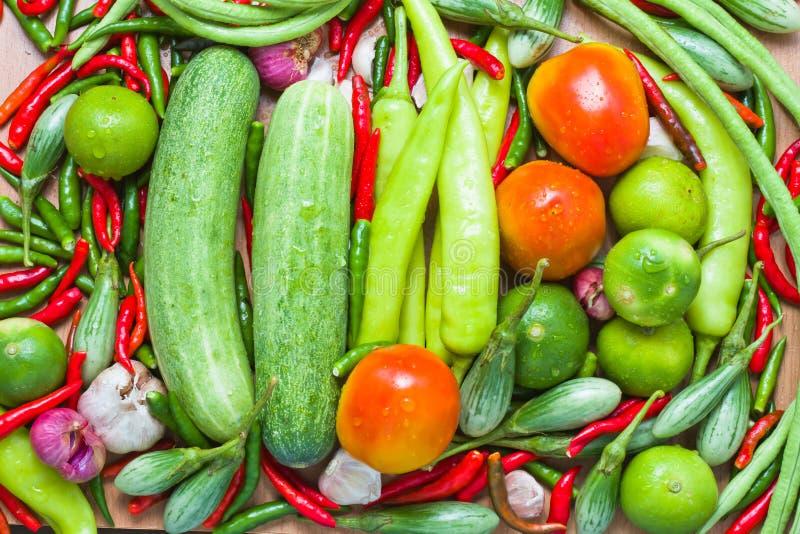 Grönsaker och örtar arkivbilder