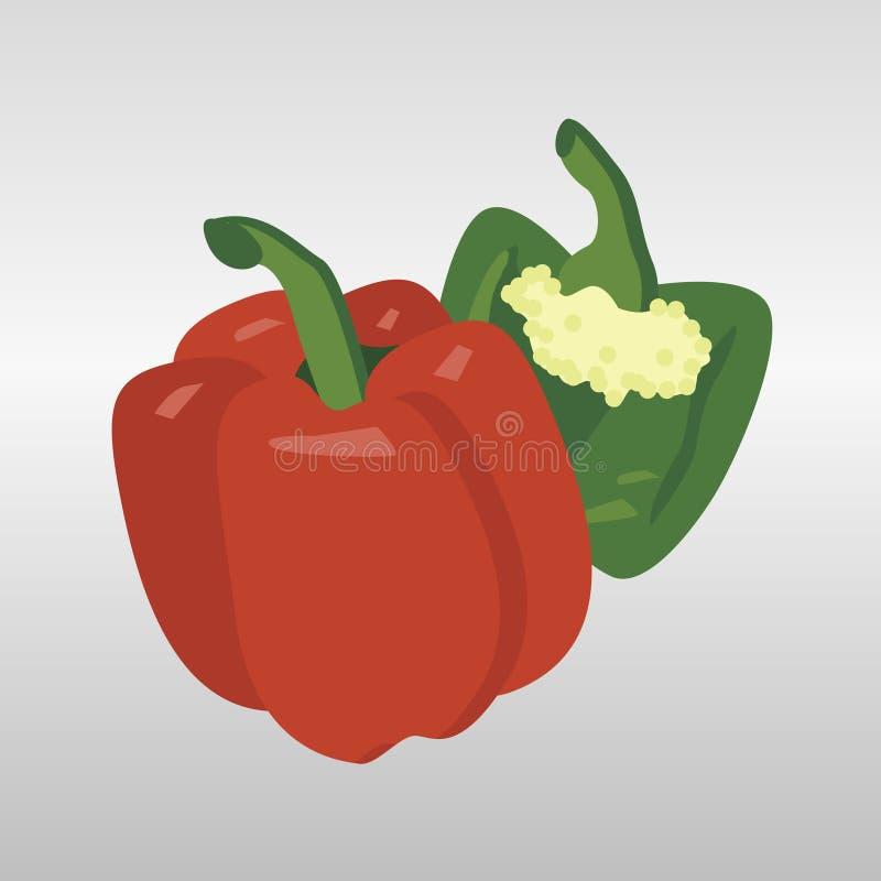 Grönsaker och frukt royaltyfri illustrationer