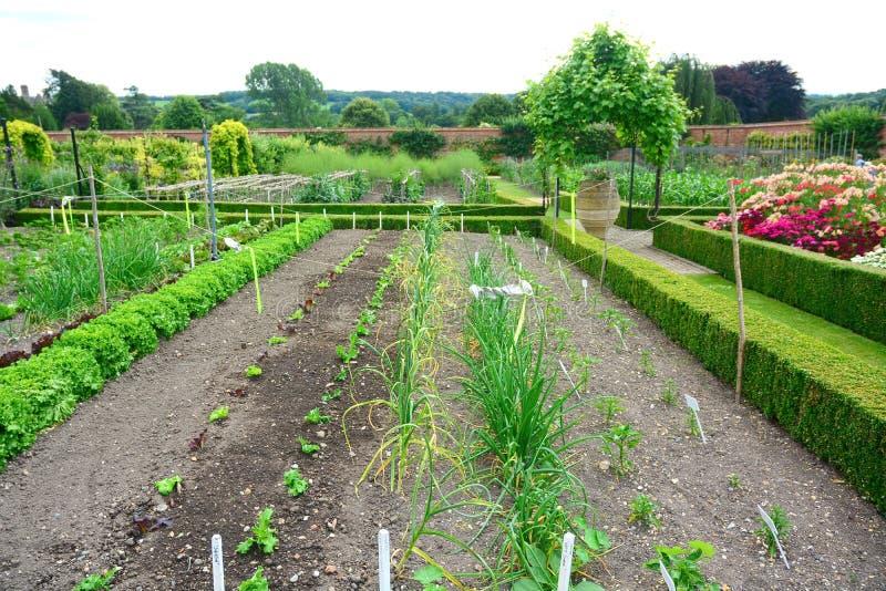 Grönsaklapp och walled trädgård fotografering för bildbyråer