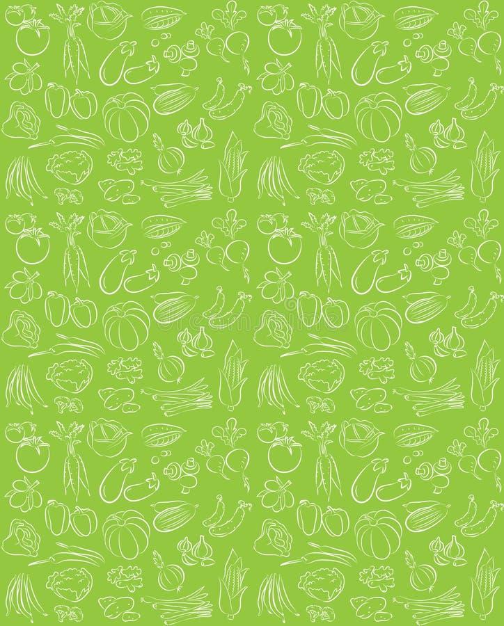 Grönsakmodell royaltyfri illustrationer
