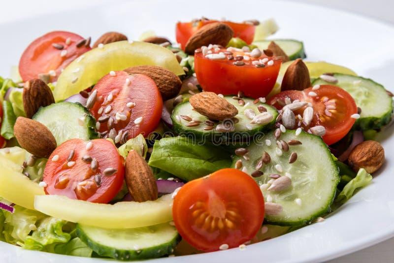 Grönsaksallad med frö fotografering för bildbyråer