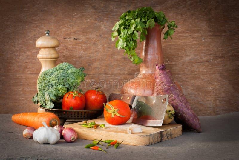 Grönsakstilleben royaltyfri bild