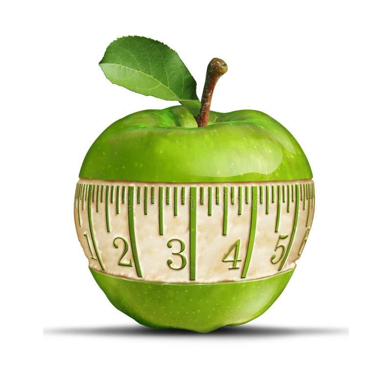Grönt äpple för kondition vektor illustrationer