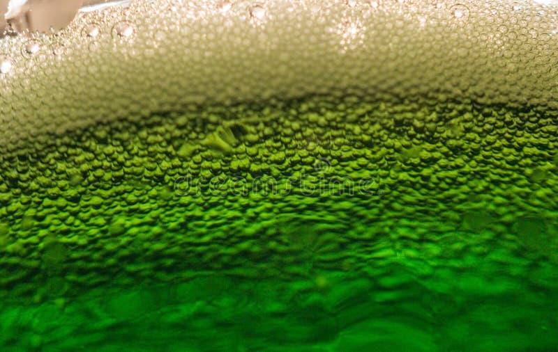 Grönt ölmakrofoto royaltyfria foton