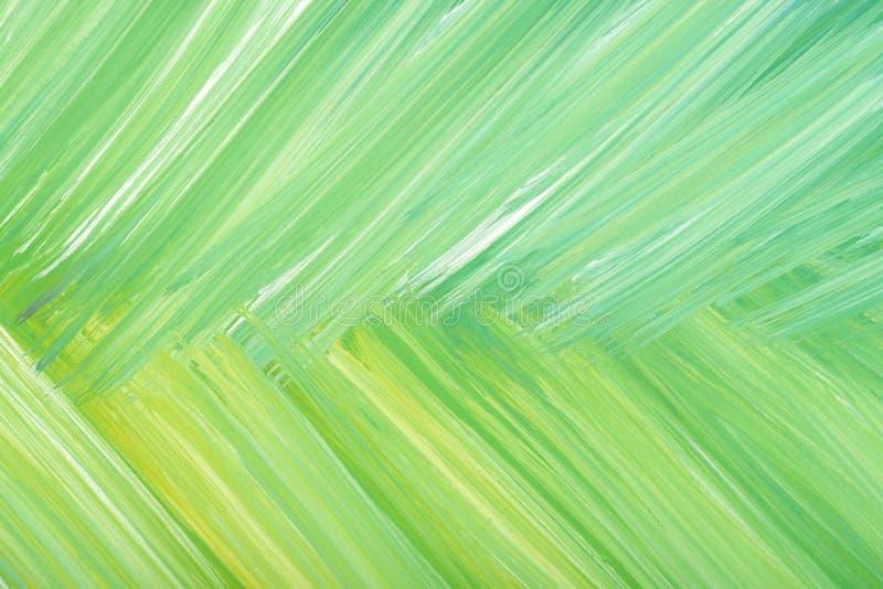 Grönt abstrakt begrepp hand-målad textur för bakgrund för kludd för gouacheborsteslaglängd stock illustrationer
