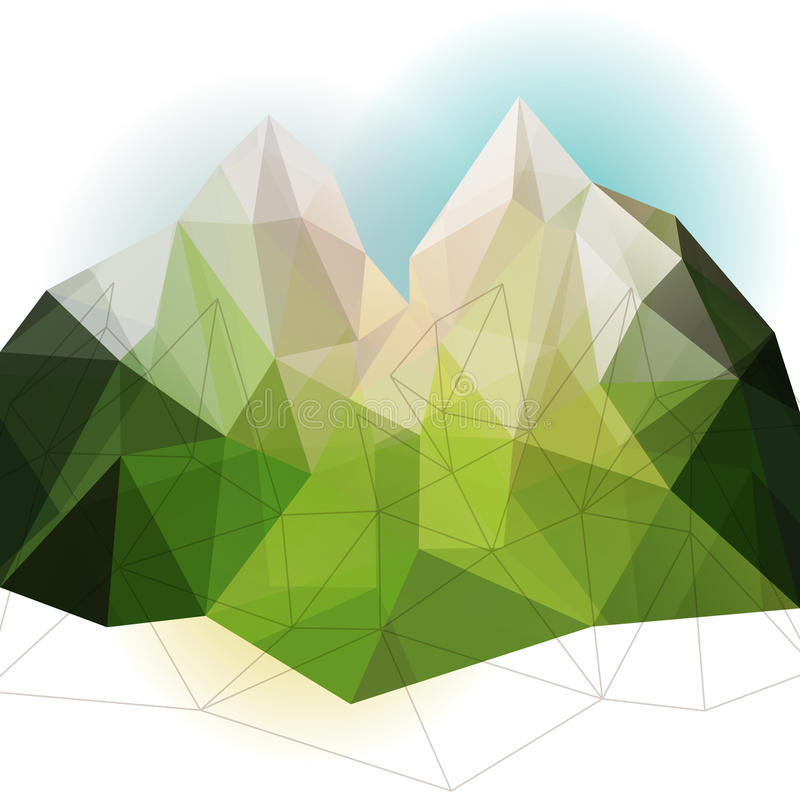 Grönt abstrakt berg royaltyfri illustrationer