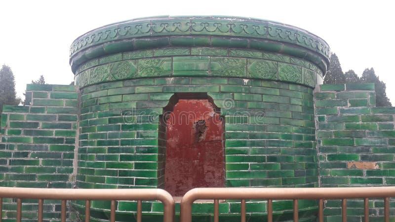 Grönt altare i tempel av himmel i Peking, Kina royaltyfria foton