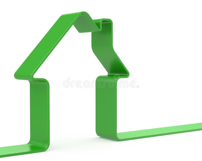 Grönt bandhus vektor illustrationer