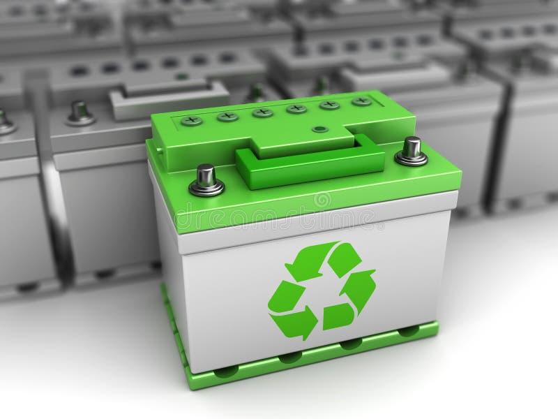 Grönt batterival royaltyfri illustrationer