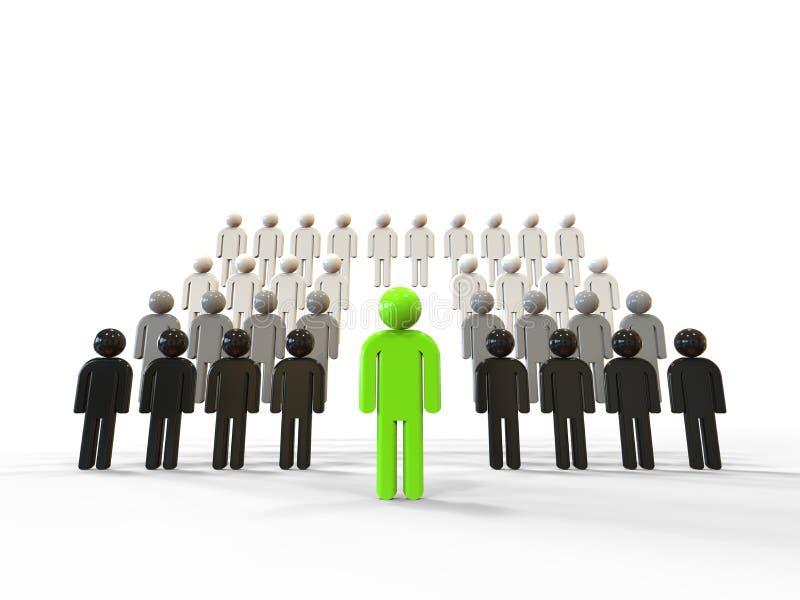 Grönt begrepp för ledarskap royaltyfri illustrationer