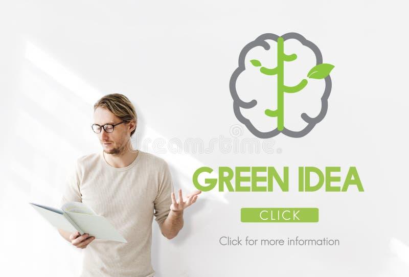 Grönt begrepp för natur för idébeskyddbeskydd royaltyfri foto