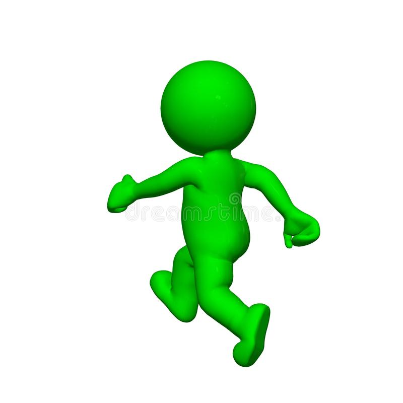 Grönt 3D folk - vit bakgrund för statistroll vektor illustrationer