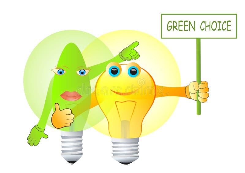 Grönt energival stock illustrationer