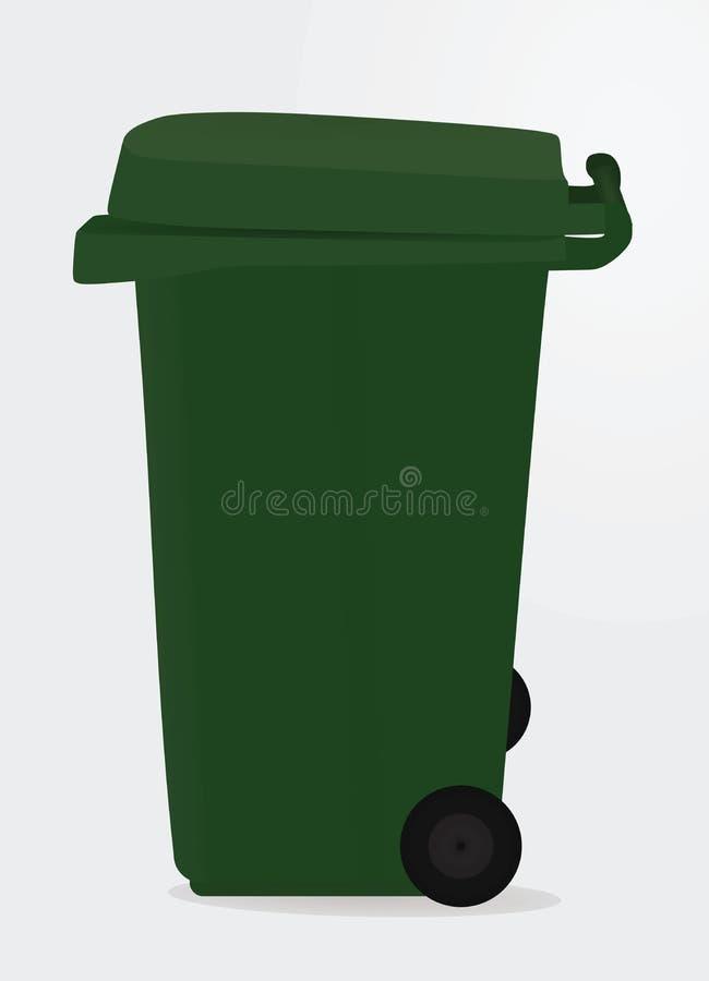 Grönt förlorat fack stock illustrationer