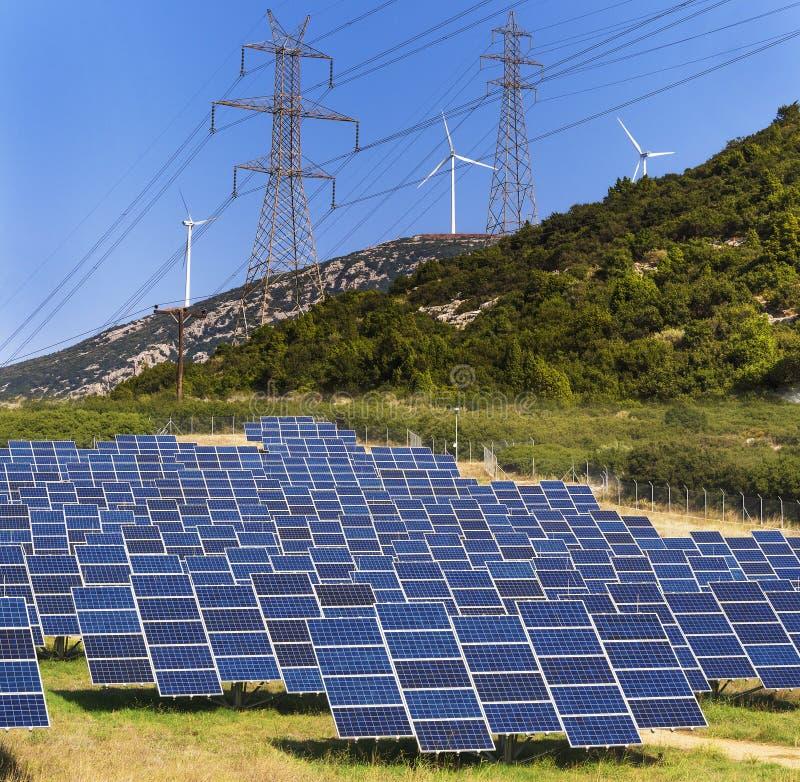 grönt förnybart för energi arkivfoto