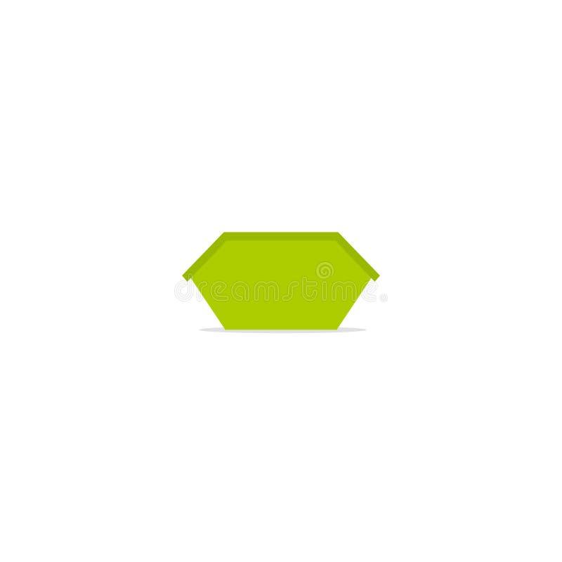 Grönt fack för kortkortavfallsöverhopp stock illustrationer