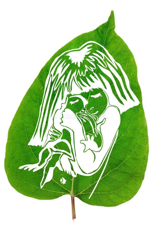 Grönt fredbegrepp stock illustrationer