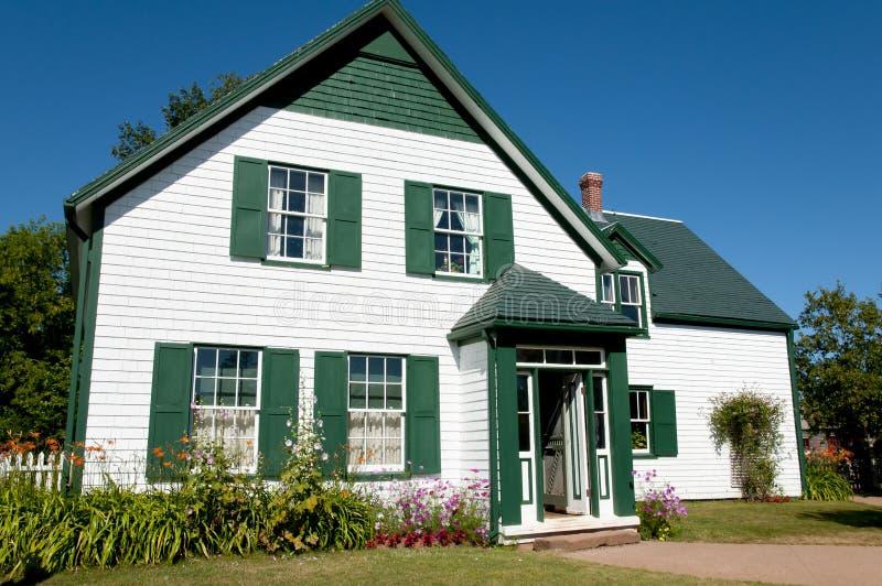 Grönt gavelhus - prinsen Edward Island - Kanada royaltyfri fotografi