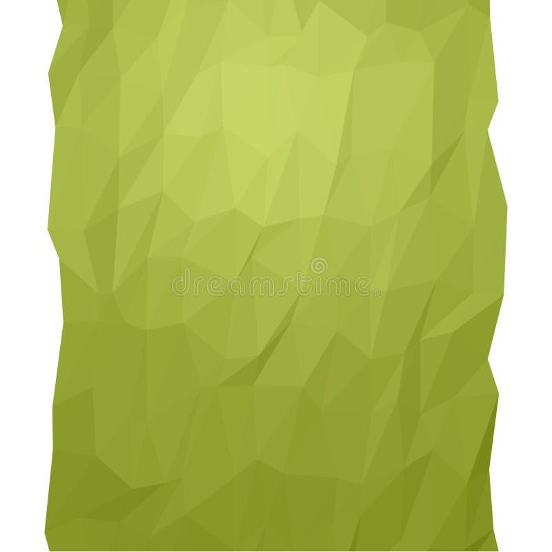 Grönt geometriskt abstrakt begrepp royaltyfria bilder