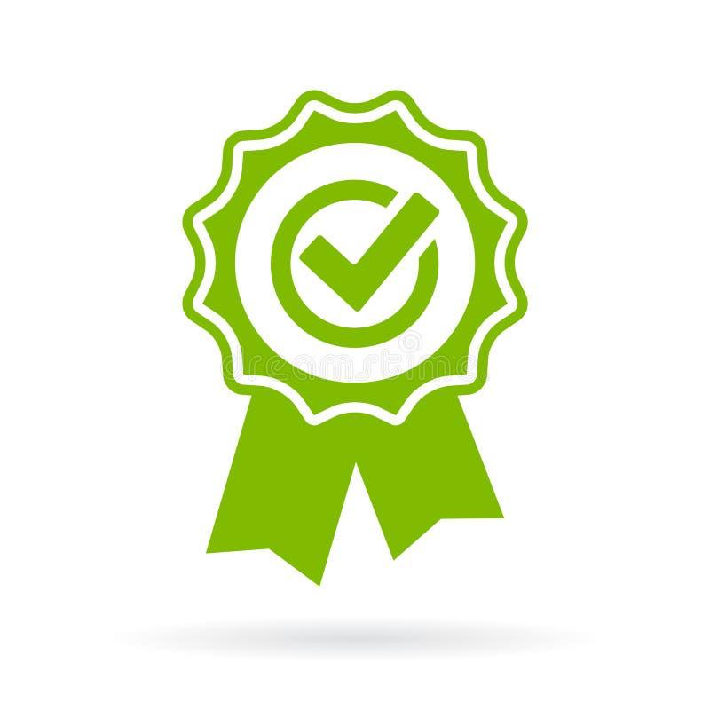 Grönt godkännandecertifikat stock illustrationer