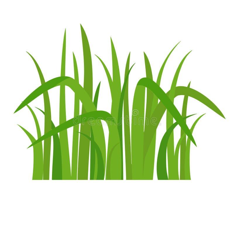 Grönt gräs för symbol stock illustrationer
