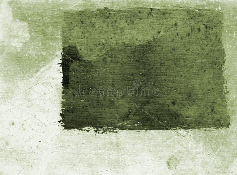 grönt grungepapper stock illustrationer