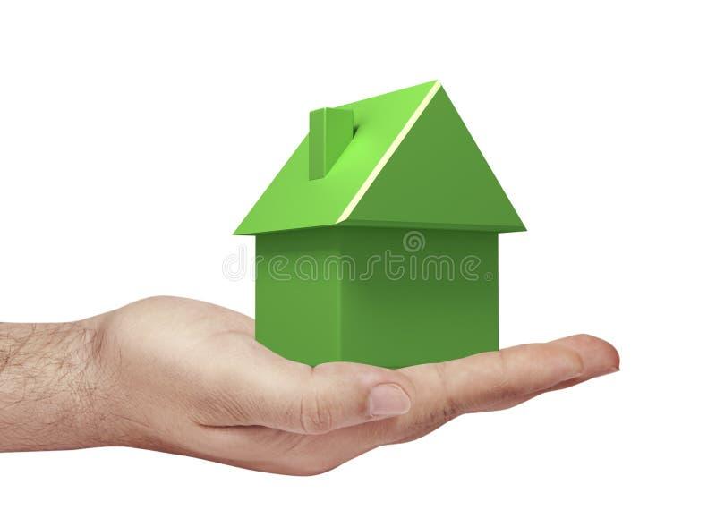 grönt hus vektor illustrationer