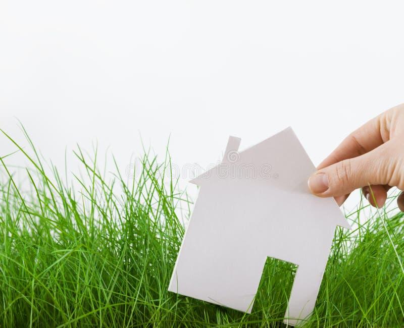 Grönt hus arkivbild