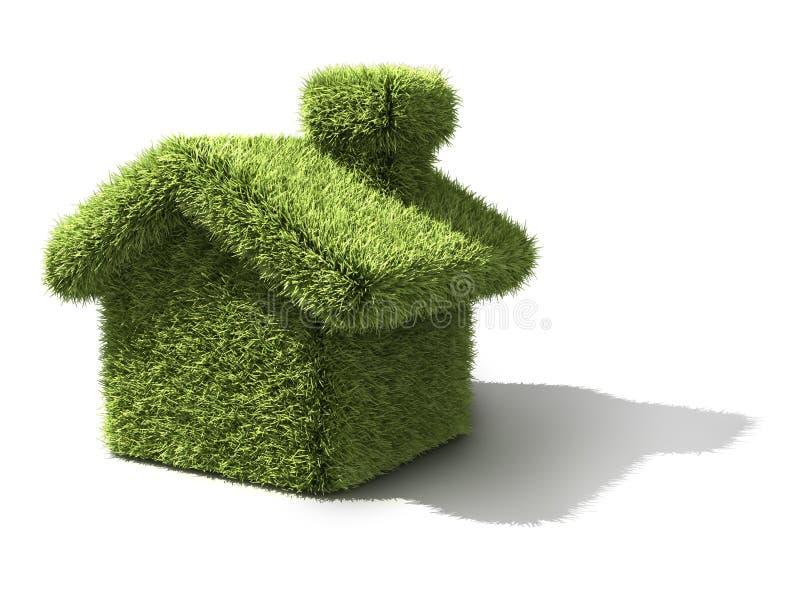 grönt hus för ekologi vektor illustrationer