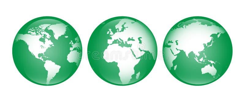 Grönt jordklot fotografering för bildbyråer