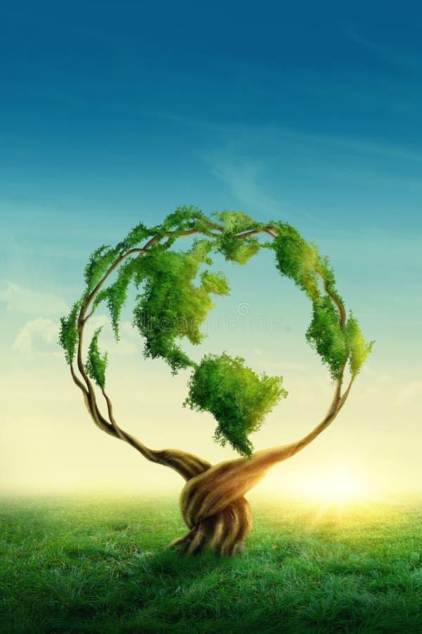 Grönt jordklot royaltyfria foton