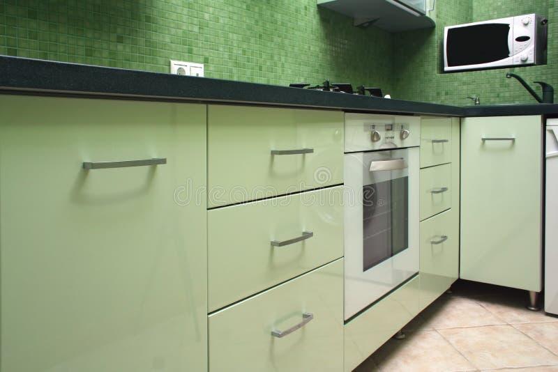 grönt kök arkivbilder