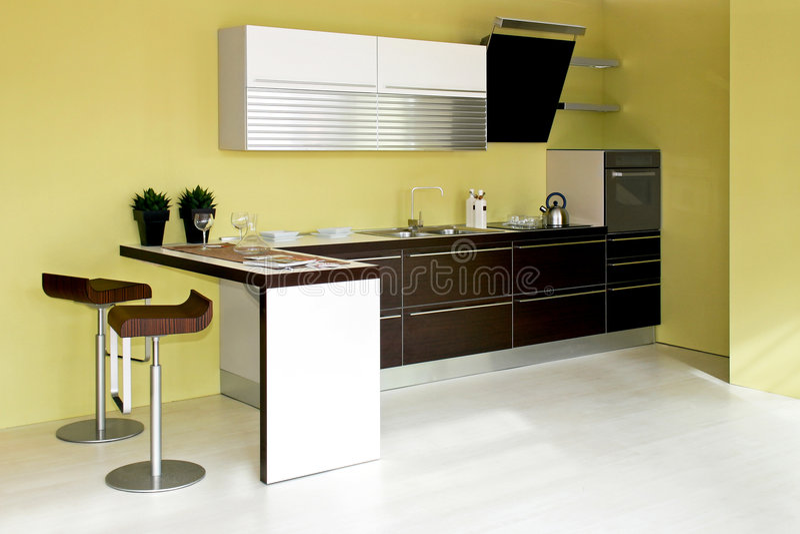 grönt kök royaltyfria bilder