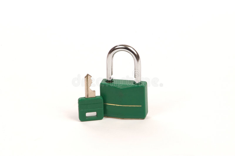 grönt key lås royaltyfria foton