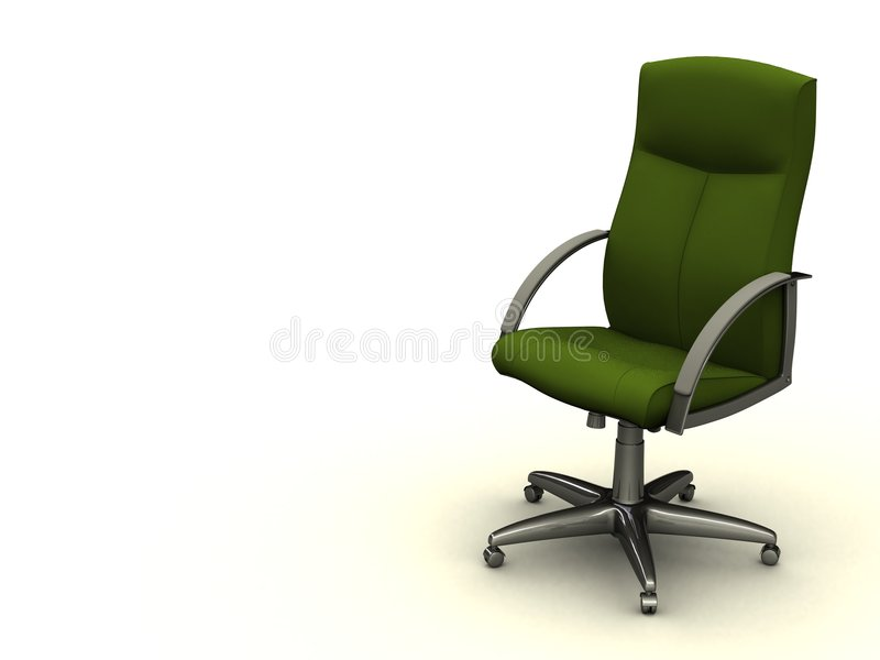 grönt kontor för stol royaltyfri illustrationer