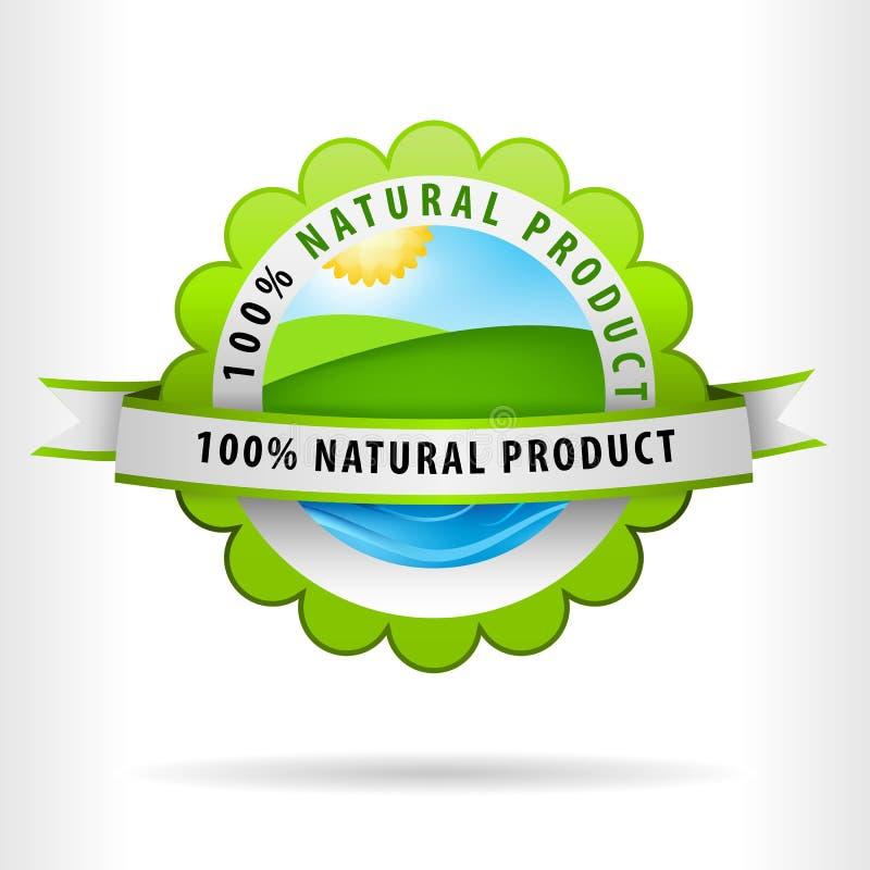 Grönt land för Clean luft och naturlig produkt för vatten vektor illustrationer
