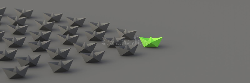 Grönt ledarefartyg royaltyfri foto
