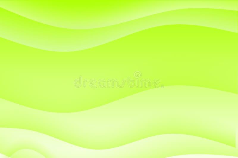 grönt lugna för abstrakt bakgrund som är wavy stock illustrationer