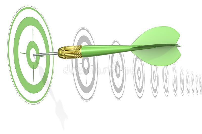 Grönt marknadsföringsbegrepp vektor illustrationer