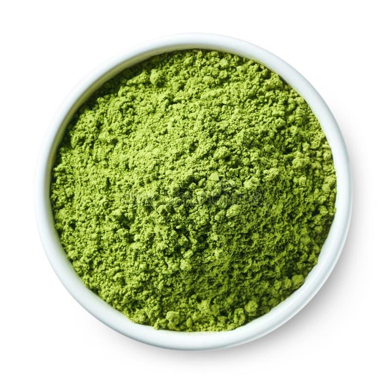 Grönt matchatepulver royaltyfri bild