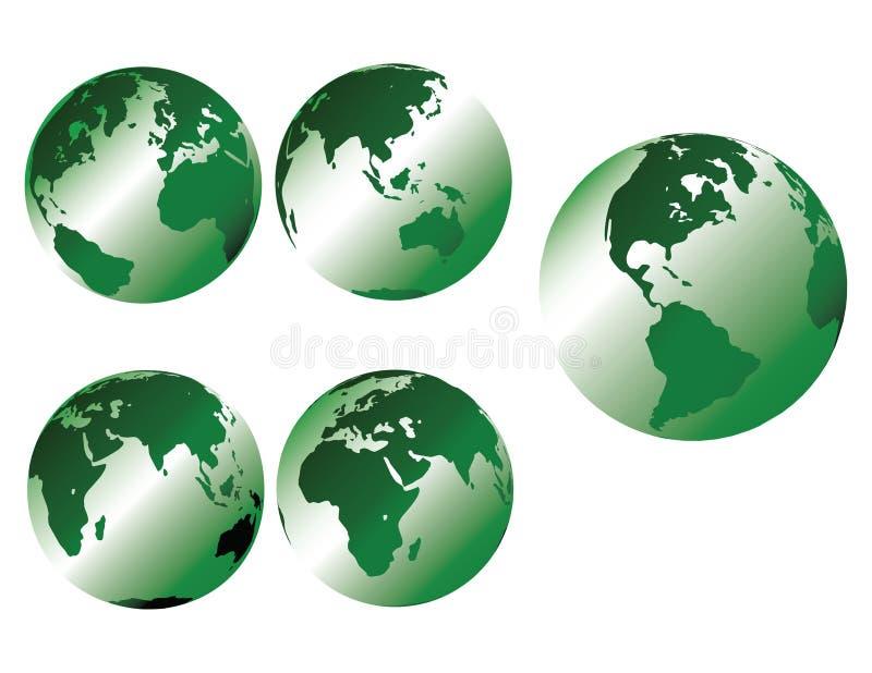 grönt metalliskt för jord royaltyfri illustrationer